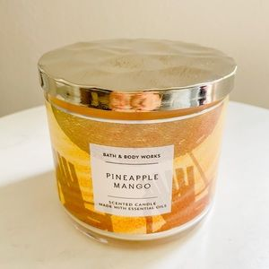 Bath and body works 3 wick pineapple mango candle